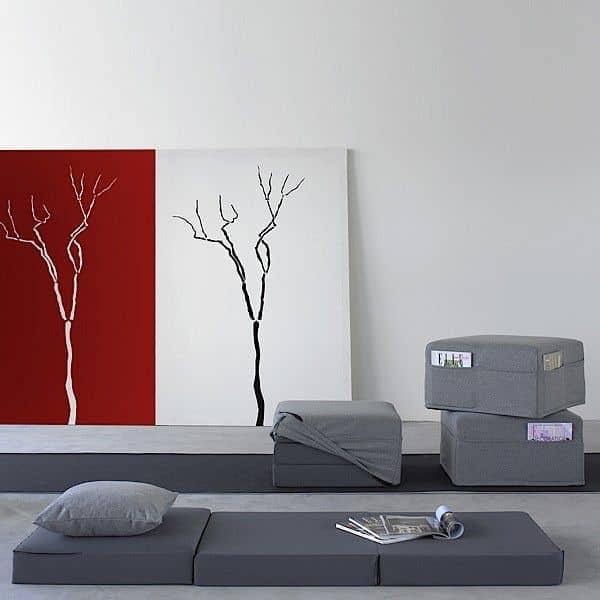 TRIO er et funktionelt design puf, sofabord og lejlighedsvis seng - deco og design, SOFTLINE