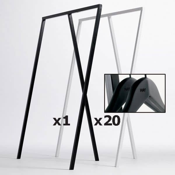 SET : 1 ντουλάπα LOOP + 20 κρεμάστρες: σκανδιναβική σχεδίαση στην καλύτερη τιμή