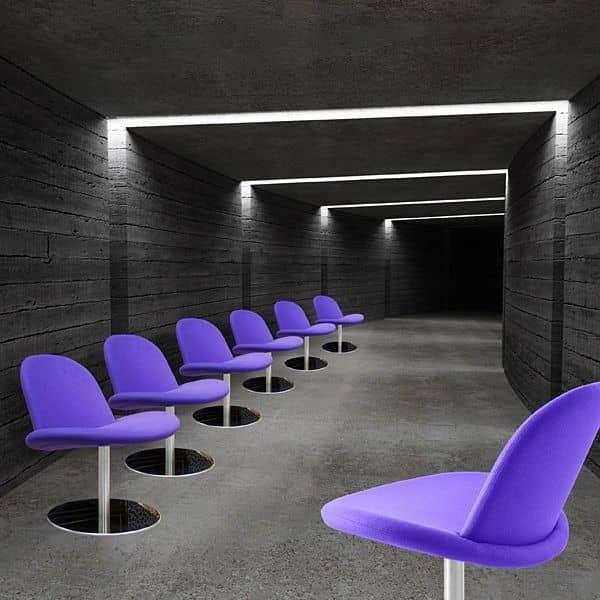 Orlando una sedia girevole moderna softline for Sedia design comoda