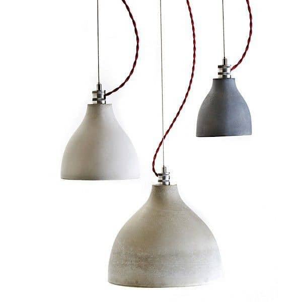 HEAVY LIGHT COLLECTION - pending lamps, hand-cast concrete : pure, deco and design