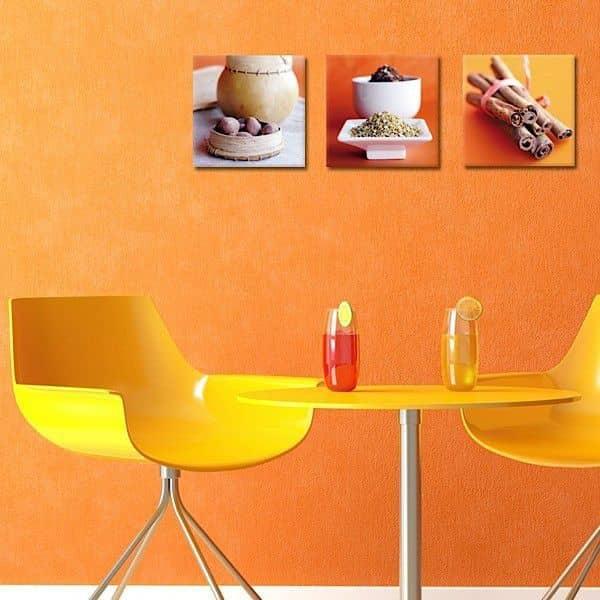 Trios de fotografias artísticas impressos em lona e montado em macas - elegante e contemporâneo e decorativo