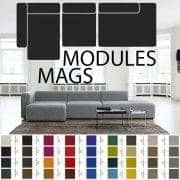 MAGS ספה, יחידות מודולריות, בדים ועורות: ליצור הספה מותאמת אישית שלך, HAY