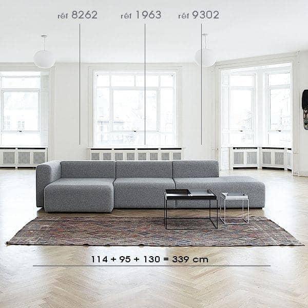 MAGS Sofa, Modular units, fabrics and leathers: create your customized sofa, HAY