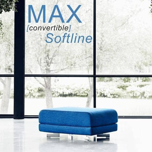 MAX הוא פוף עיצוב פונקציונלי ומיטה נוספת, SOFTLINE - דקו ועיצוב