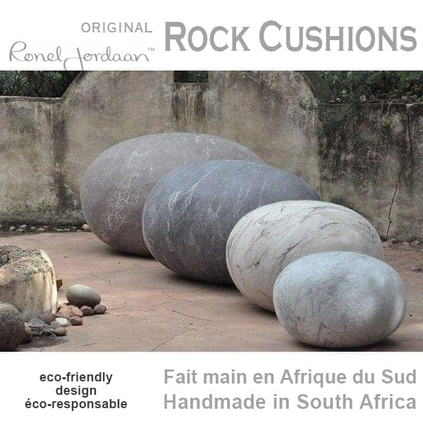 ROCK CUSHIONS - Merino Wool - hand made in South Africa