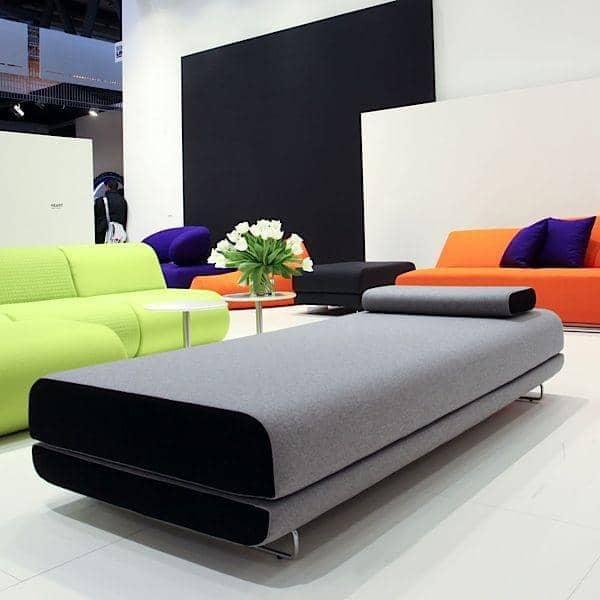 SHINE dia cama, um sofá-cama muito confortável e elegante. Almofada incluído - deco e design, SOFTLINE