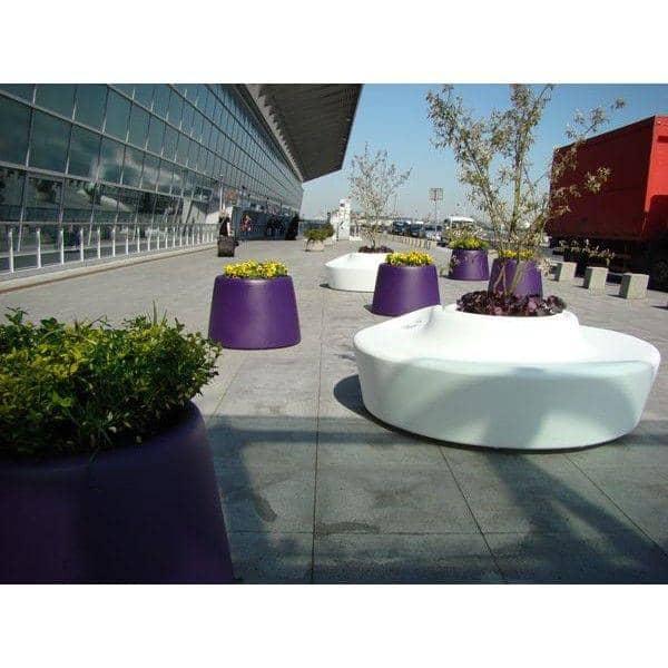 SARDANA, un grand vase d'extérieur rond, de qualité : ambiance méditerranéenne garantie !