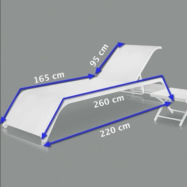 Transat ALUTEX, structure aluminium et toile Textilène