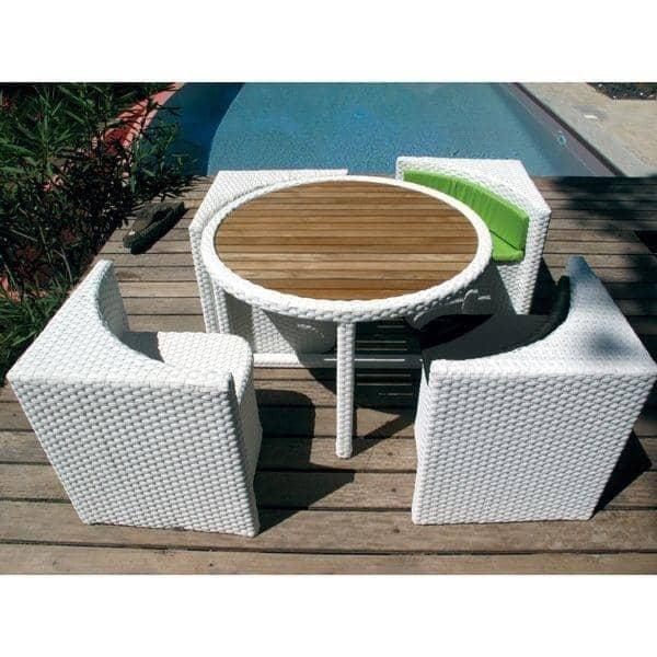 Mobili da giardino proximity resina intrecciata for Mobili giardino resina