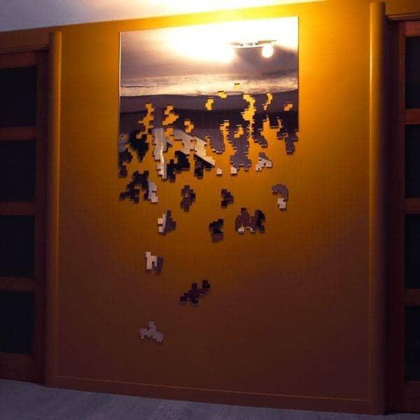 Miroir d coratif dissolve un oeuvre d 39 art sign arik for Miroirs decoratifs