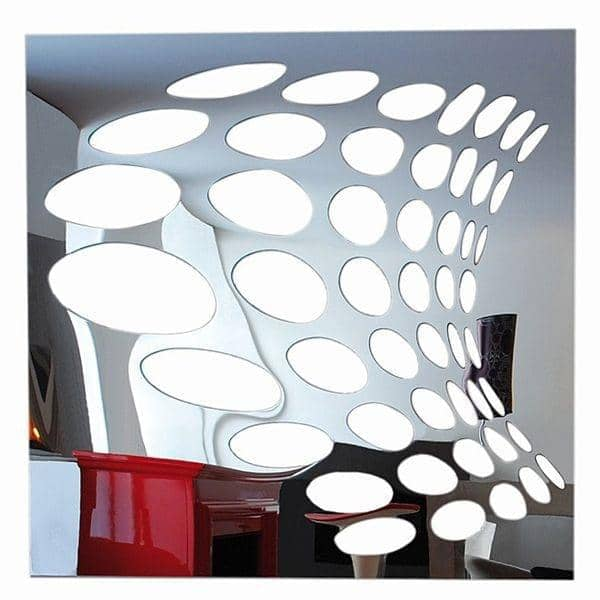 Miroir d coratif psych par christian ghion 98 x 98 cm for Miroirs decoratifs design