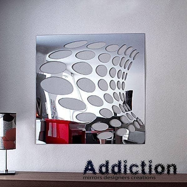 Miroir d coratif psych par christian ghion 98 x 98 cm for Miroirs decoratifs