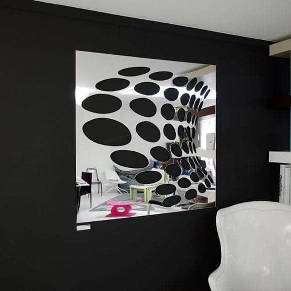 Miroir d coratif psych par christian ghion 98 x 98 cm for Miroirs decoratifs design