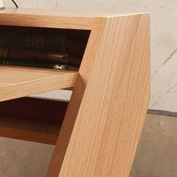 RAVENSCROFT مكتب - البلوط والجوز والنهاية، فائقة وظيفية، ديكو والتصميم مع ساقيه عبر