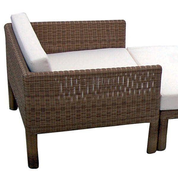 Salon de jardin CONFORT PLUS en résine loom - modulaire, confortable et cosy