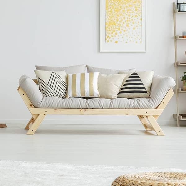 ALULA : sofa, méridienne convertible en lit d'appoint - incluant le futon et deux coussins