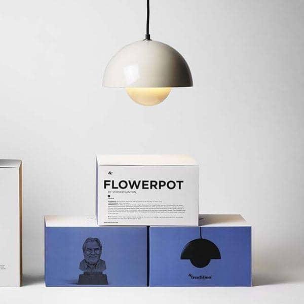 FLOWERPOT collezione di lampade disegnata da Verner Panton: senza tempo, deco and nordico progettato, AND TRADITION