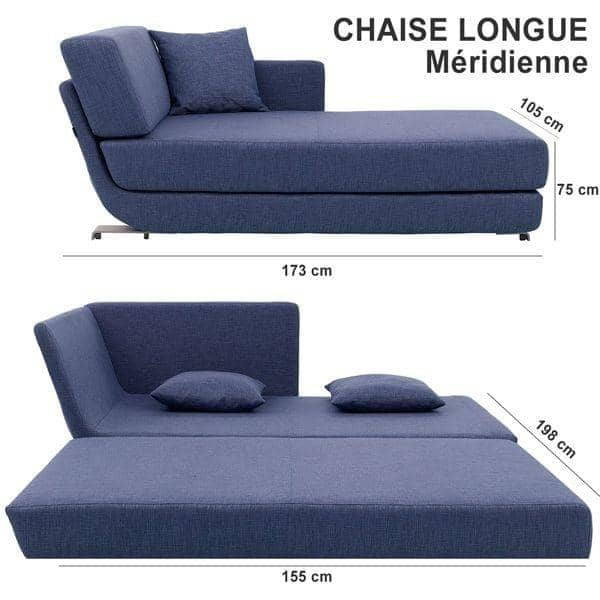 Lounge sofa 3 places convertible m ridienne et pouf tissus felt softline - Meridienne convertible 2 places ...